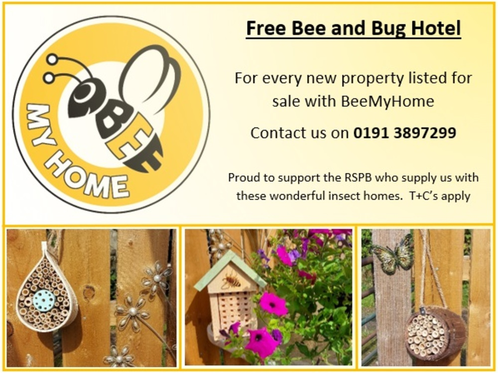 Free Bee and Bug Hotel for All New Listings!
